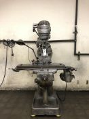 "Bridgeport Mill 3HP, 80-2720 RPM 48"" T Slot Table Auto feed S/N- J6964"