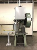 "Havir Press Rite No.2 O OBI Punch Press- 20 ton cap, 2"" stroke, 2"" ram, 2 hp motor, dual palm"
