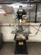 "(1) Jet JMD-18 Drill Presses PFN - 2 hp motor, 0-3,000 rpm, 18"", power downfeed, With Procunier"