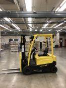"""2016 Hyster J40XN Forklifts- 36v electric, 3 stage mast, 3,500 lb cap, solid tires, tilt, 36"""" forks,"""