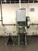 "Havir Press Rite N0.37 OBI Punch Press- 30 ton cap, 2 ½"" stroke, 2"" ram, 2hp motor, dual palm"