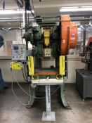 "V&O 50S 50 Ton OBI Punch Presses- 50 ton cap, mechanical clutch, 30""x19"" bolster, pro tech eagle eye"