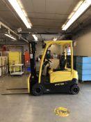 """2012 Hyster J40XN Forklift- 36v electric, 3 stage mast, 3,500 lb cap, solid tires, tilt, 36"""""""