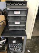(6) Husky parts cabinets