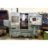 MORI SEIKI 2 AXIS CNC LATHE MODEL SL-3, S/N 4375, FANUC SYSTEM 11TE CNC CONTROL, 12 POSITION TURRET,