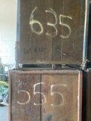 Lot of (2) Steel Can Hoppers