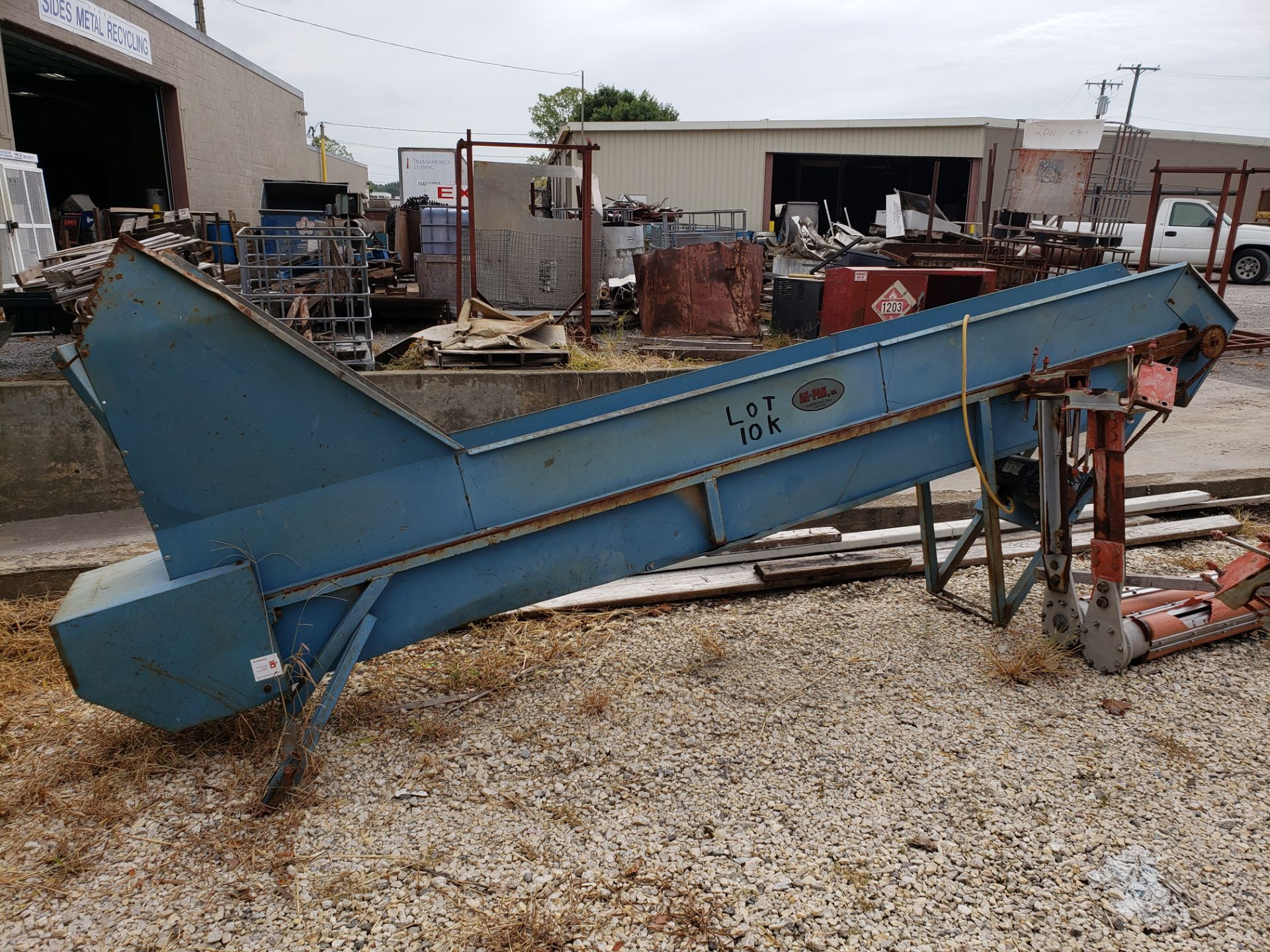 Lot 10K - Ag-Pak Incline Conveyor