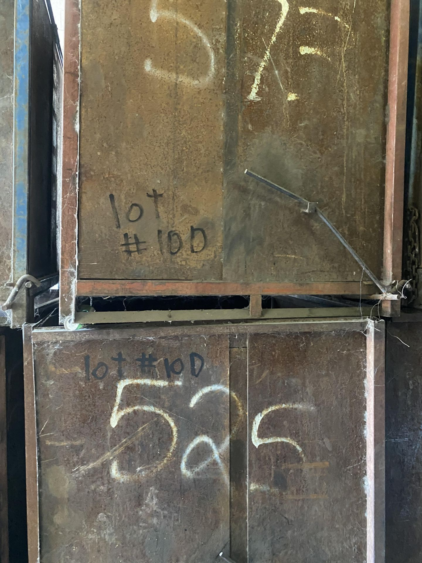 Lot 10D - Lot of (2) Steel Can Hoppers