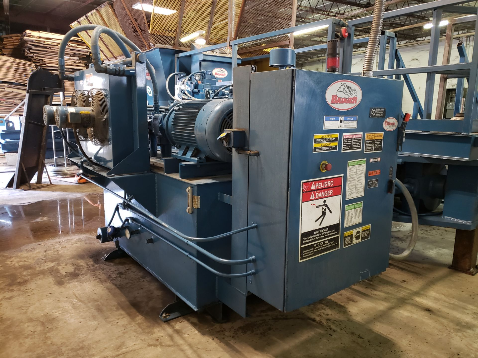 Lot 1 - Harris L50S-2-11/8 Badger 2-Ram Baler w/L&P Wire Tie System (New In 2006, Rebuilt In 2014)