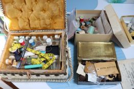 Group of sewing supplies