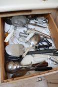 Drawer of kitchen utensils