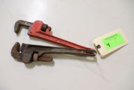 """Two 14"""" pipe wrenches"""