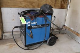Millermatic 250 CV DC welding power source/wire feeder, serial KJ007259, including one welding mask