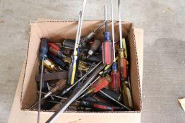 Box lot of Craftsman screwdrivers