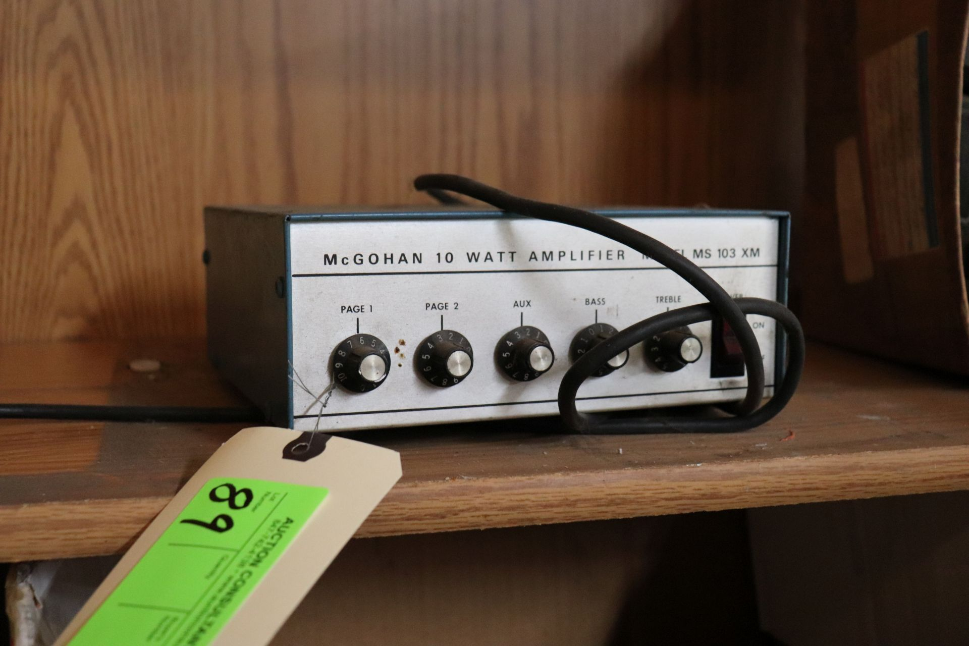 McGohan 10-watt amplifier, model MS103XM