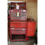 Sears Craftsman tool chest on top of a Vulcan tool chest