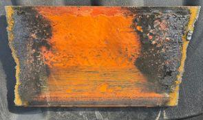 "7 of 39 commemorative 8"" piece of Jus-Fun Go-kart guard rail"