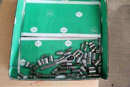 """Box lof of Craftsman 1/4"""" sockets and driver"""