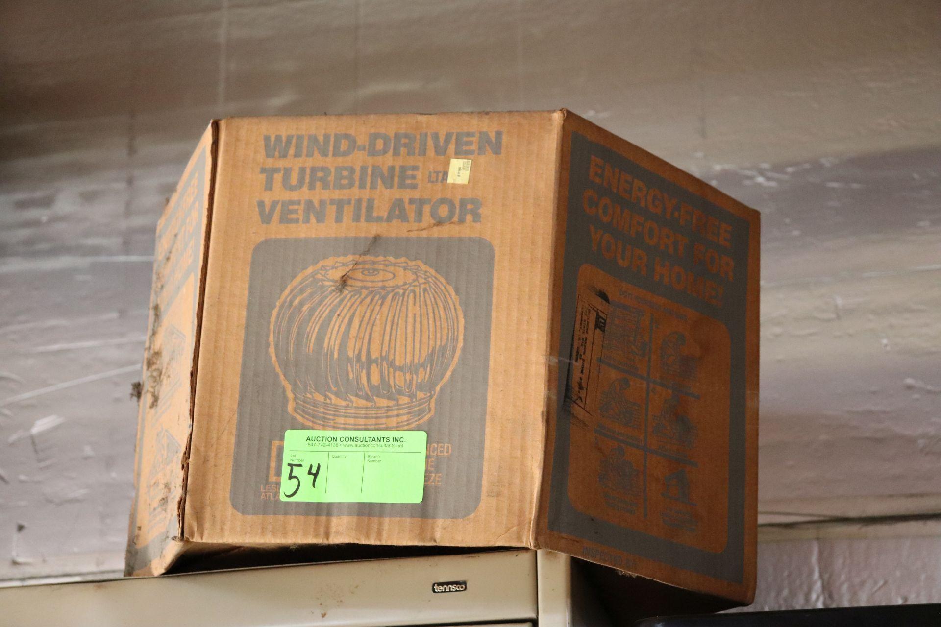 Wind driven turbine ventilator, new in box