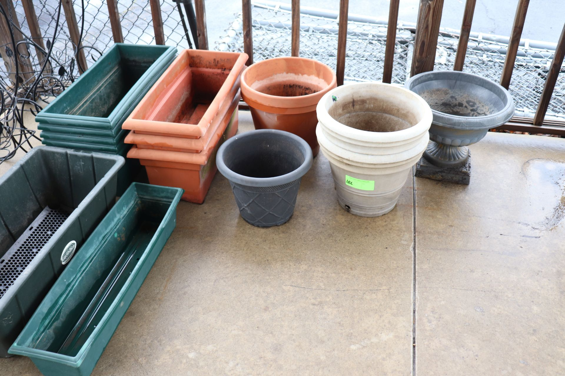 All plastic planters pictured
