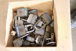 Box lot of Master brand padlocks