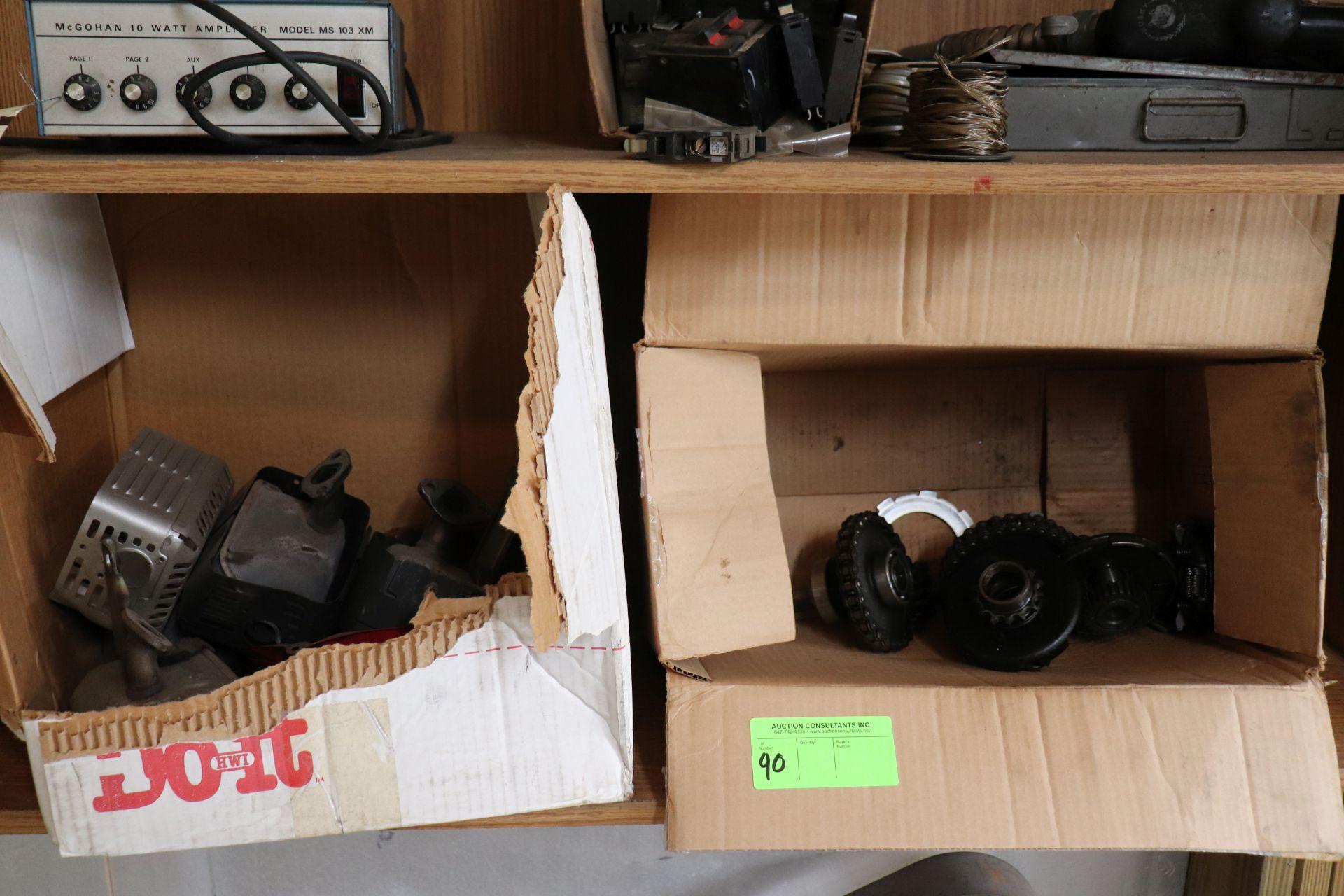 Go-kart muffler and transmission parts