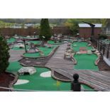 Modular 18-hole mini golf course by Micro Golf Cost of Wisconsin Inc., blueprints provided, carpet p