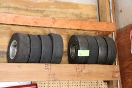 Two sets of go-kart tires