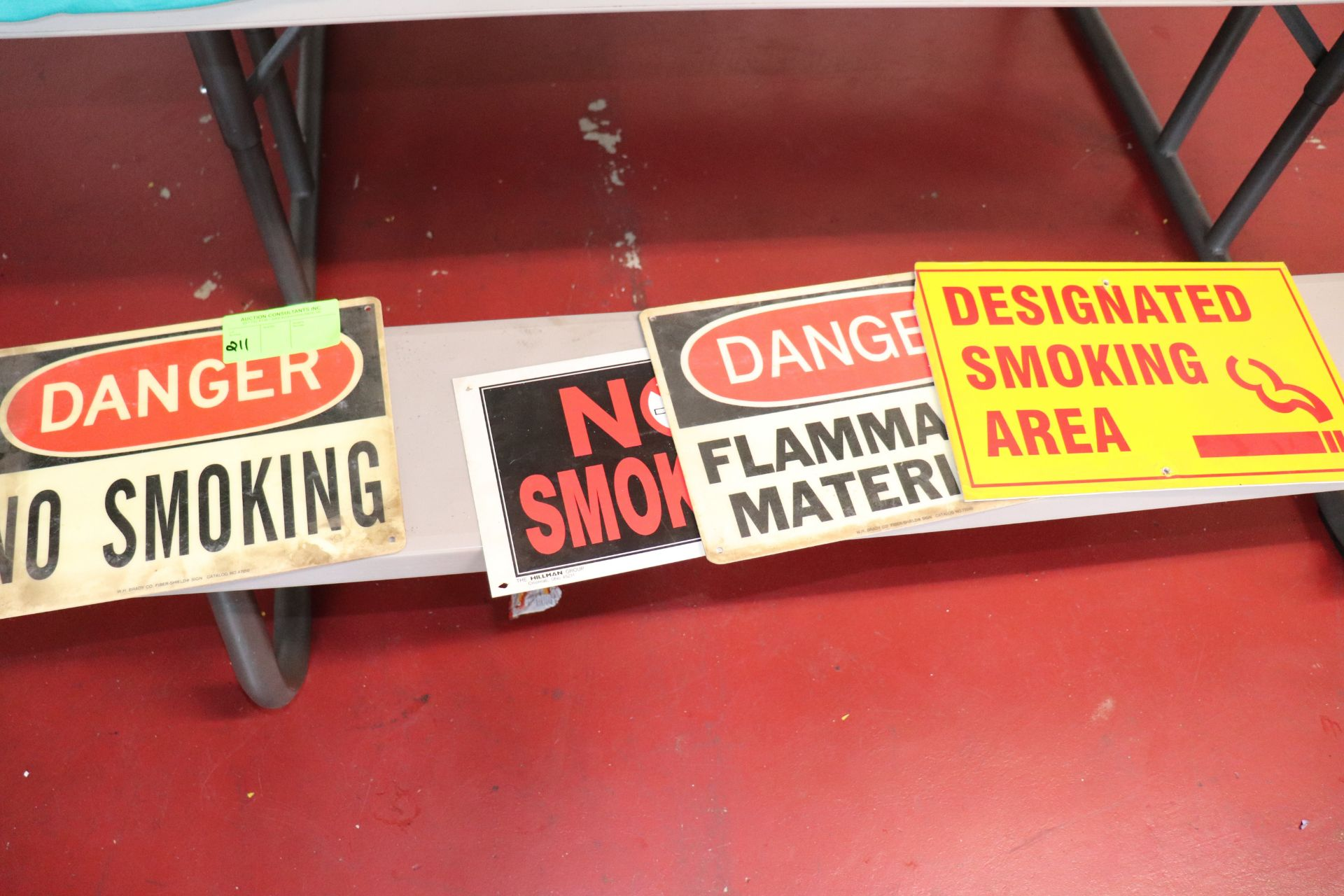 Three No Smoking signs