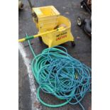 Mop bucket with hose and extension cord