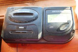 Sega Genesis with Sega CD