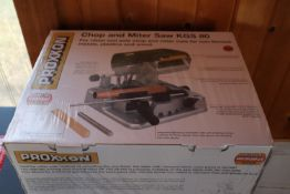 Proxxon Chop and Miter saw, model KGS80, new in box