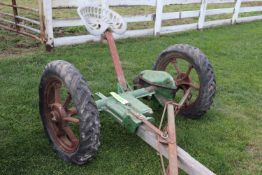 International Harvester horse drawn axle trailer gear #9 mower and seat