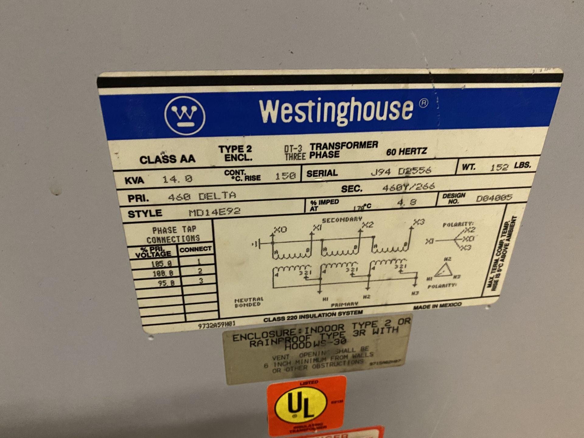 Lot 6 - Westinghouse 14 KVA Transformer
