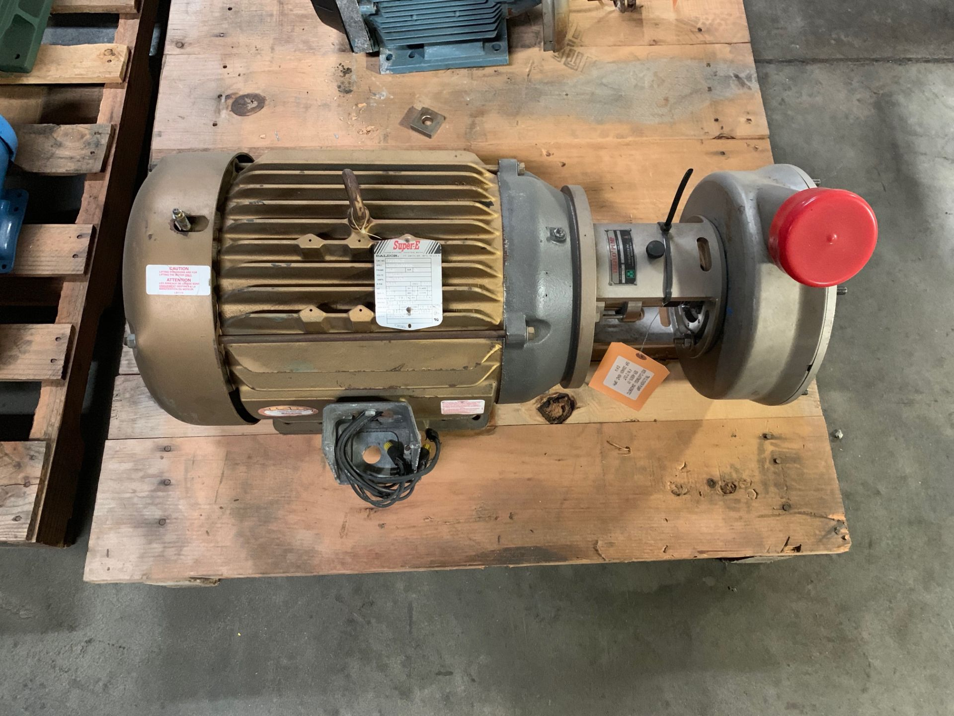 Lot 1 - Tri Clover 15HP Centrifugal PumpModel CL4378MDG -254/256TCSN 465575-014in inlet 2in outlet
