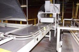 Sentry Depalletizer Discharge Conveyor W/dust Off Suction. With NY Blower 100-153 AVF Year of Mfg.