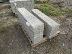 """(16) 10"""" x 4' Precise Concrete Forms, Textured Brick 8"""" Hole Pattern, Located in Winterset, IA"""
