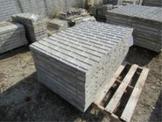 """(9) 32"""" x 4' Precise Concrete Forms, Textured Brick 8"""" Hole Pattern, Located in Winterset, IA"""
