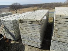 """(16) 28"""" x 8' Precise Concrete Forms, Textured Brick 8"""" Hole Pattern, Located in Winterset, IA"""