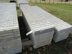 "(10) 20"" x 9' Precise Concrete Forms, Textured Brick 8"" Hole Pattern, Located in Winterset, IA"