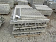 """(55) 4"""" x 4"""" x 4' ISC Precise Concrete Forms, Textured Brick 8"""" Hole Pattern, Located in"""