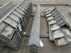 """(4) 4""""x4""""x8' Nominal ISC Wall-Ties Concrete Forms, Smooth 8"""" Hole Pattern, Located in Mt."""