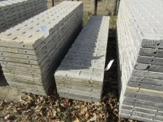 """(6) 20"""" x 8' Precise Concrete Forms, Textured Brick 8"""" Hole Pattern, Located in Winterset, IA"""