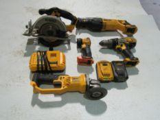 DeWalt Cordless Set with Battery & Charger, Circular Saw, Grinder, Flashlight, Drill & Sawzall,