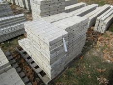 """(41) 12"""" x 2' Corners Precise Concrete Forms, Textured Brick 8"""" Hole Pattern, Located in"""