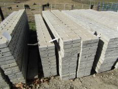 """(12) 10"""" x 8' Precise Concrete Forms, Textured Brick 8"""" Hole Pattern, Located in Winterset, IA"""