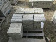 """(48) 12"""" x 1' Corners Precise Concrete Forms, Textured Brick, 8"""" Hole Pattern, Located in Winterset,"""