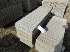 """(10) 16"""" x 4' Precise Concrete Forms, Textured Brick 8"""" Hole Pattern, Located in Winterset, IA"""