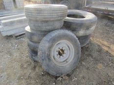 Pallet of Used Tires & Rims, Located in Winterset, IA