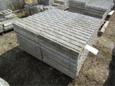 """(18) 24"""" x 4' Precise Concrete Forms, Textured Brick 8"""" Hole Pattern, Located in Winterset, IA"""